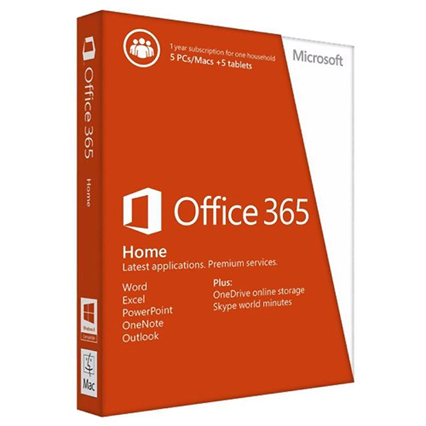 Office365 Home 32/64 AllLngSub PKLic 1YR Online