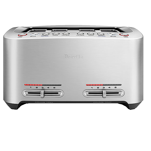 Breville Diecast Motorised Smart  Slice Toaster-BTA845BSS