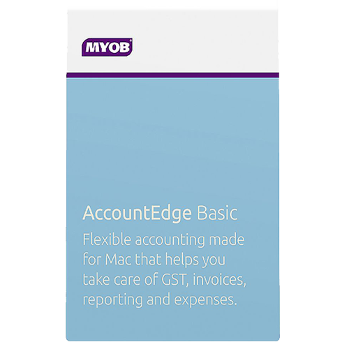 MYOB Account Edge Basic for Mac- Digital for your convenience.