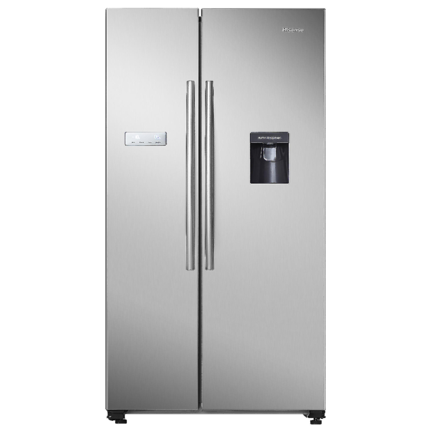 Hisense 624L Side by Side Fridge S/Steel-HR6SBSFF624SW