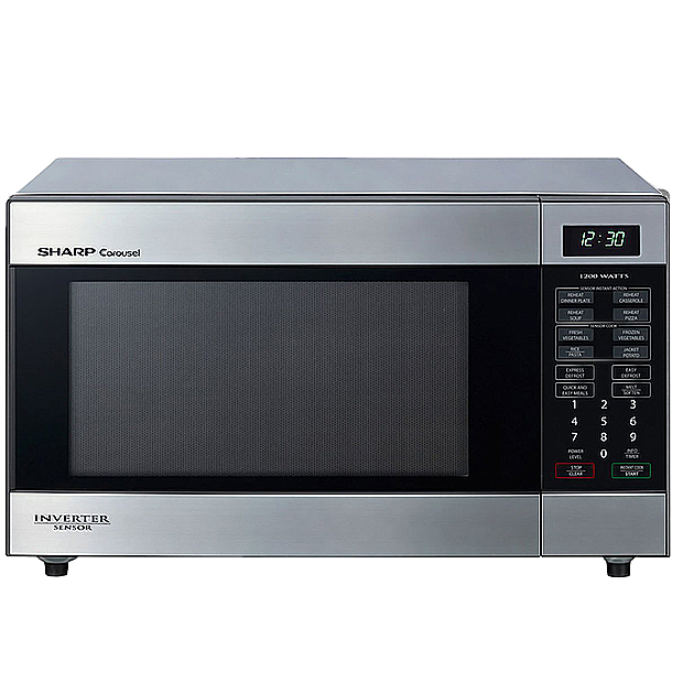 Sharp Stainless Steel 1200W Inverter Microwave - R395YS