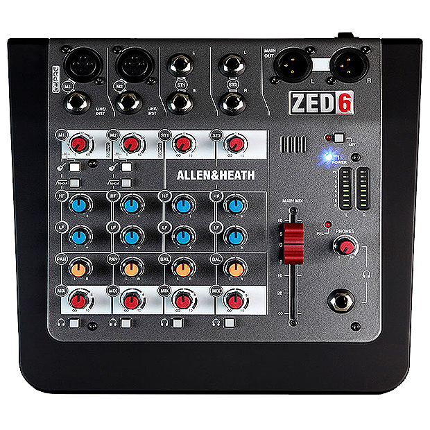 Allen & Heath's Compact 6 input analogue mixer- ZED-6